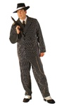 Deluxe Pinstriped Gangster Suit Adult Costume