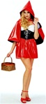 Sexy Vinyl Red Riding Hood AdultCostume
