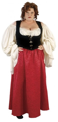 Plus Size Merchants Wife Costume - Renaissance