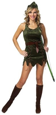 Sexy Robin Hood Adult Costume - SALE - SIZE SMALL - DETACHED BELT LOOPS