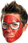 Marvel Universe Spiderman Face Tattoo