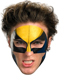 Marvel Universe Wolverine Face Tattoo