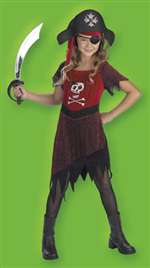 Girls Pirate Costume - 7-8