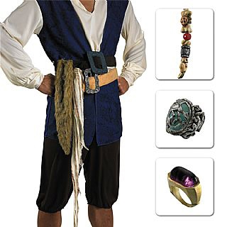 Licensed Jack Sparrow Costume Accessory Kit from Pirates of the Caribbean