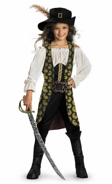 Licensed Pirates of the Caribbean Angelica Child Deluxe Costume