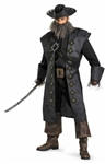 Licensed Captain Blackbeard Costume from Pirates of the Caribbean