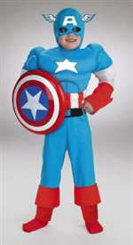 Deluxe Child Captain America Costume