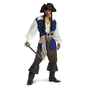 Big and Tall Deluxe Pirates of the Caribbean Costume