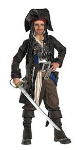 Kid's Prestige Captain Jack Sparrow Costume