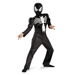 Child Black Suit Spider-Man Muscle Costume