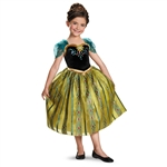 Child Deluxe Anna Coronation Costume - Frozen