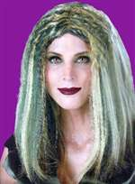 Green and Blonde Witch Wig