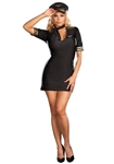 Sexy Plus Size Mile High Captain Costume - Flight Attendant