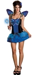 Sexy Blue Butterfly Light Up Costume- Fiber Optic