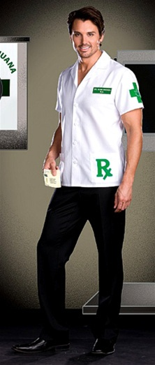 Medical Marijuana Doctor Costume - Dr. Herb Smoker