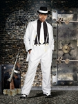 Men's White Zoot Suit Costume