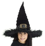 Black Ridged Witch Adult Hat