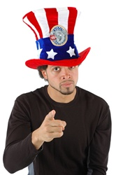 USA Uncle Sam Republican Adult Hat
