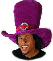 Madhatter Giant Purple Alice Hat - Adult