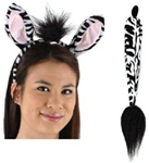 Zebra Ears and Tail Accessory Kit