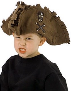 Tattered Brown Pirate Hat - Kids