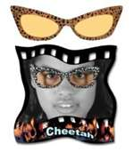Yellow Cheetah Glasses - Adult