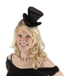 Black Burlseque Steampunk Top Hat