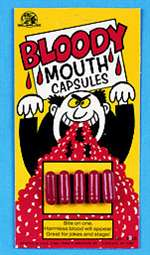 Bloody Mouth Capsules - Halloween