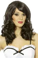 Long Loose Curl Black Wig - Adult