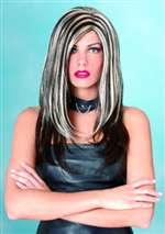 Black and White Rock Wig - Adult