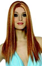 Long Mixed Red and Blonde Wig - Adult