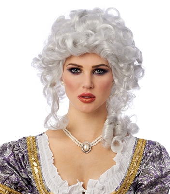 White French Queen Wig