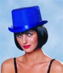 Blue Stardust Top Hat - Adult