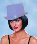 Silver Stardust Top Hat - Adult