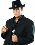 Black Fedora Costume Hat - Adult