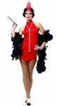 Sexy Red Flapper Adult Costume