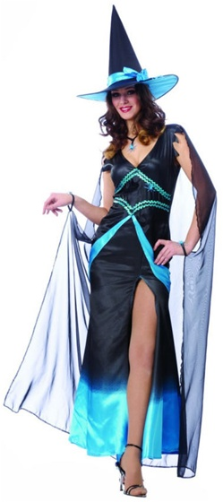 Blue and Black Fabulous Witch Costume