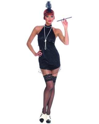 Sexy Black Flapper Adult Costume