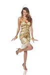 20's Gold Showgirl Flapper Costume