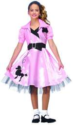 50's Hop Diva Child Costume - LARGE