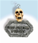 Motion Sensor Talking Skull Door Sign