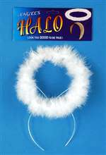 Angel White Marabou Halo