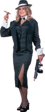 Womens Mobster Adult Costume
