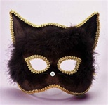 Black Cat Masquerade Mask