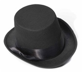 Black Steampunk Top Hat