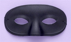 Adult Black Domino Eye Half Mask