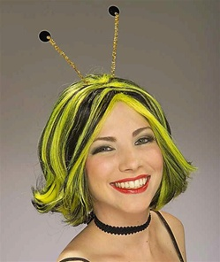 Bee Costume Wig with Antennae