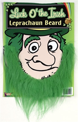 Green Leprechaun Beard - Facial hair