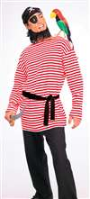 Red and White Pirate Adult Shirt