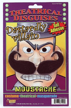 Theatrical Dastardly Villain Moustache